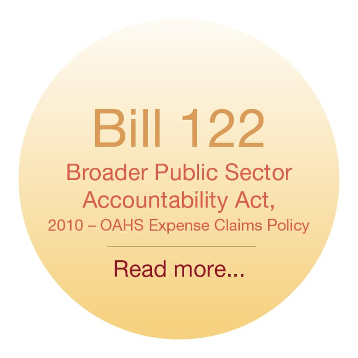 Bill 122 Broader Public Sector Accountability Act