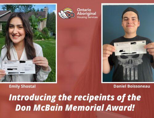 Announcing the Winners of the Don McBain Memorial Award